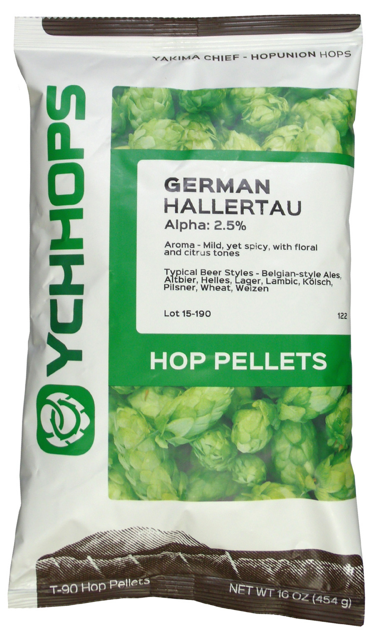 Hopunion Imported Hop Pellets 1 LB - For Beer Making - German Hallertau