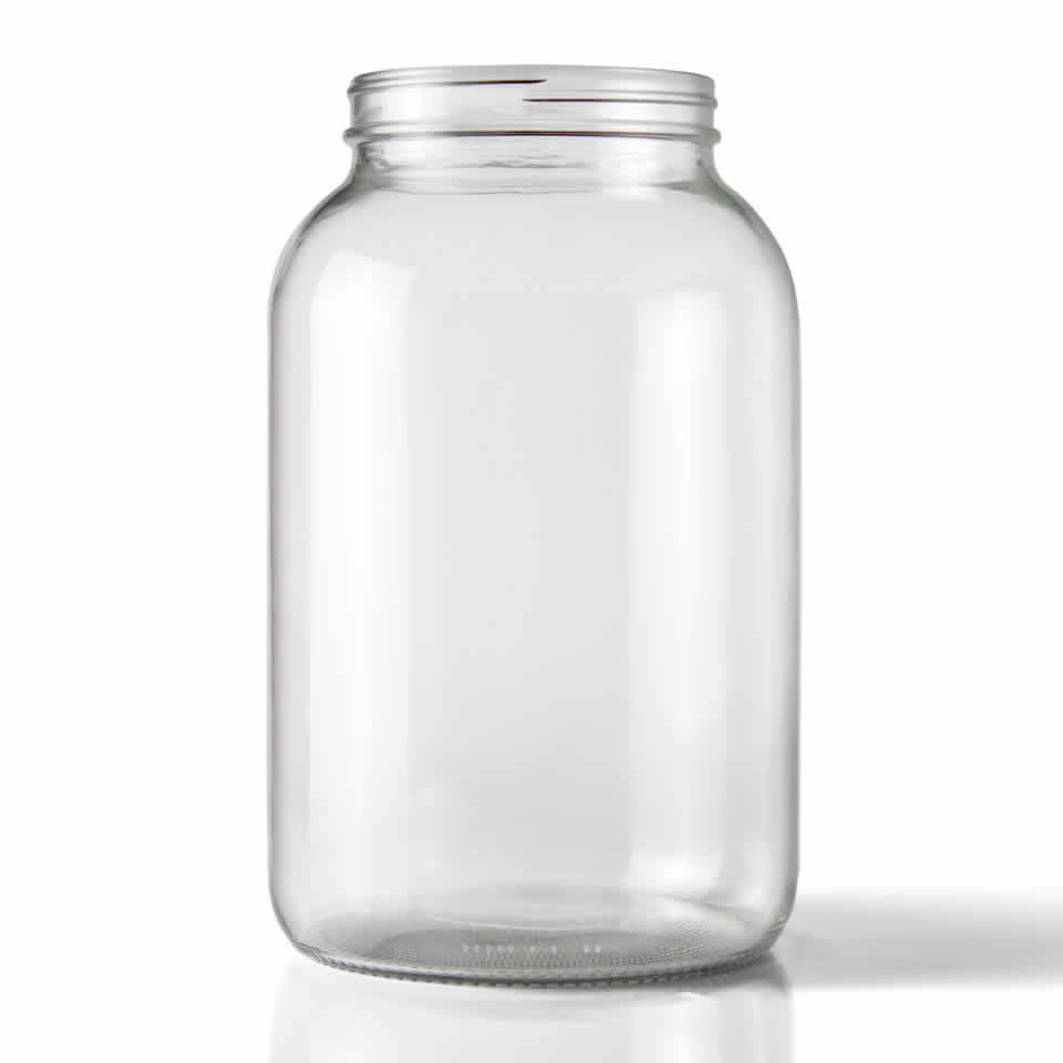 1 Gallon Wide Mouth Glass Jar Glass North Mountain Supply