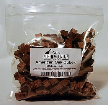 North Mountain Supply American Oak Cubes - 1 lb. - Medium Toast
