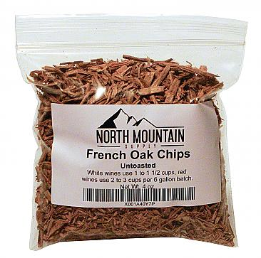 North Mountain Supply French Oak Chips - 4 oz. - Untoasted